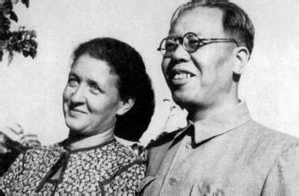 上世纪五十年代的李莎和李立三资料图片
