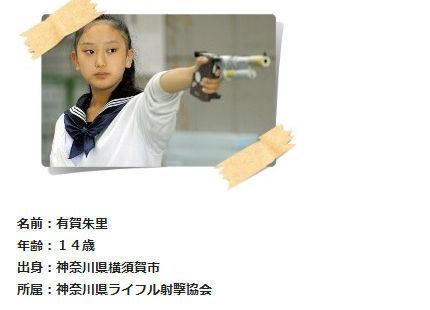 14岁日本女学生看动画练成射击冠军图片