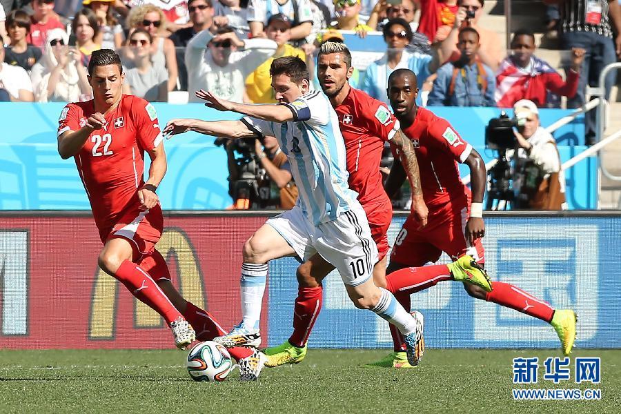 八分之一决赛:阿根廷队1:0瑞士队(组图) - 2014