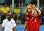 高清图:比利时加时破门胜美国 红魔勇士狂欢庆