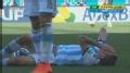 视频-费尔南德斯铲对手染黄 迪马利亚痛苦倒地