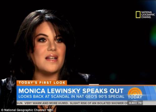 莱温斯基自2003年以来,首次接受电视访问谈丑闻。
