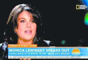 当地时间7月1日,美国电视台播出莱温斯基受访节目。