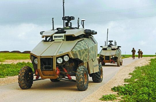原文配图:无人战车正在测试。
