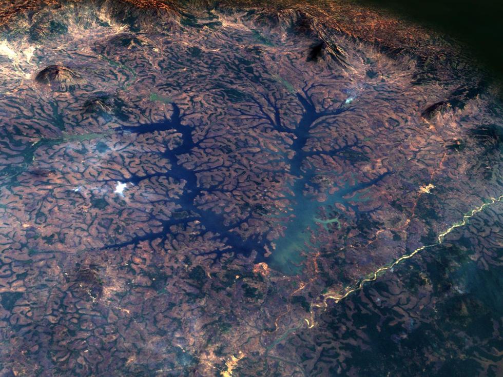 世界夜晚卫星地图_NASA发布世界杯参赛国卫星图 展现各国特色奇景(高清组图)-搜狐滚动