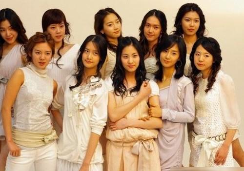 蔡琳少女时代洪秀贤韩彩英 曝韩女星整容前后对比照(组图)