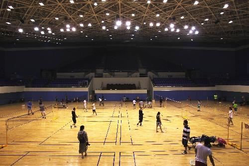 青奥场馆设施 羽毛球比赛场地
