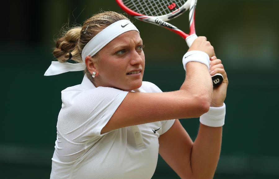 (球员)(1)网球温网女单对阵:科维托娃决赛布沙尔皇马体育和照片图片