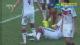 视频-任意球门前混战 击中胡梅尔斯面部出底线
