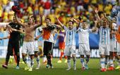 高清图:世界杯阿根廷战比利时 伊瓜因抽射破门