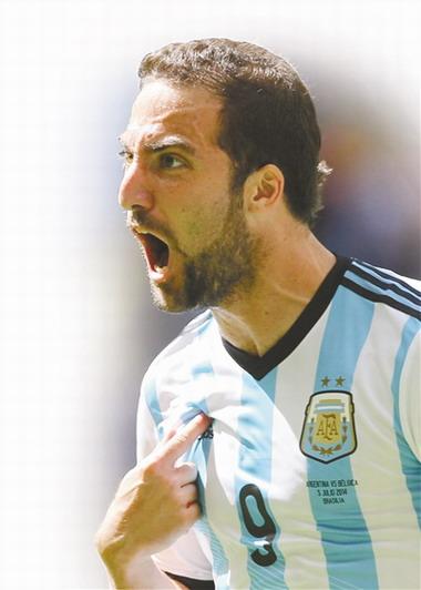 伊瓜因的进球再次把阿根廷带进半决赛。