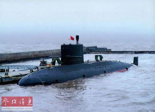 """原文配图:网上流传的中国海军""""元""""级常规潜艇。"""