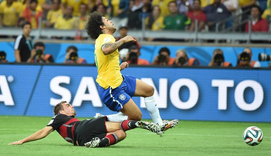 世界杯 11 足球 半决赛 巴西队对阵德国队 图图片