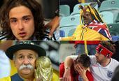 高清图:那些年的世界杯 被德国队虐哭的球迷们
