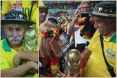高清图:老翁赠金杯 传奇经历堪称巴西第十二人