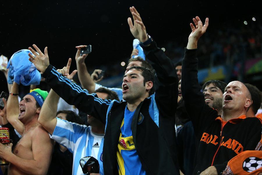 新华社照片,圣保罗巴西,2014年7月9日 世界杯18足球—阿根廷队闯入决赛