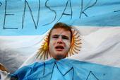 7月10日搞怪球迷:阿根廷球迷变身哭泣小太阳