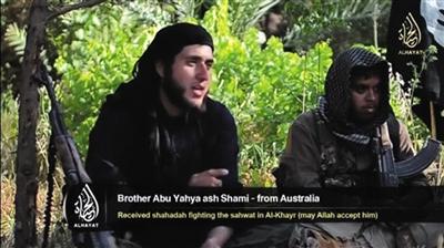 五名来自英国和澳大利亚的伊斯兰武装人员呼吁穆斯林参加叙利亚和伊拉克的内战。