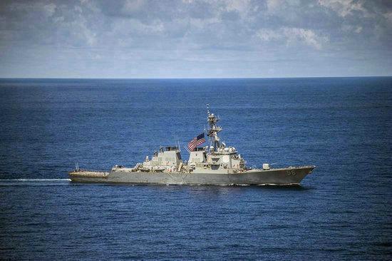 资料图:美军舰出现在中国南海海域。