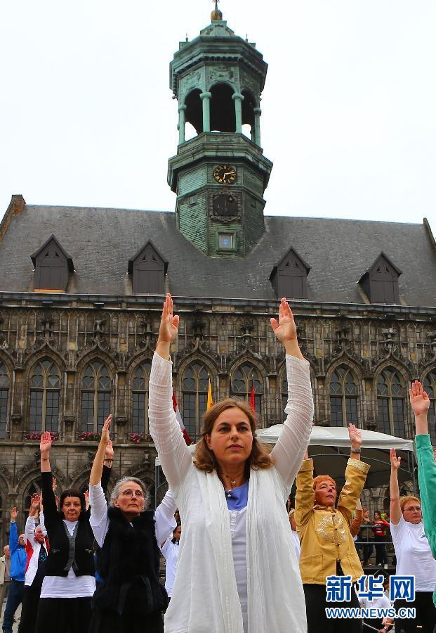 首届欧洲健身气功运动会在比利时举行(组图)