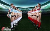 高清图:德国阿根廷巅峰大PK 足球宝贝性感助阵