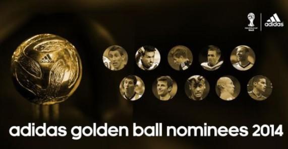 据国际足联官网消息,北京时间今天凌晨,国际足联公布了2014年巴西世界杯金球奖10名候选名单,其中穆勒、梅西、J罗、内马尔等均悉数入围。