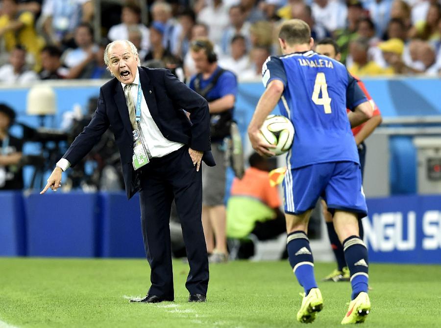 新华社照片,里约热内卢(巴西),2014年7月13日 (世界杯)足球—德国队与阿根廷队争夺冠军