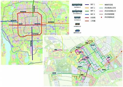亦庄纯电动公交车线路规划分布图