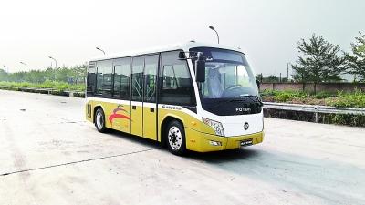 电动公交车在行动