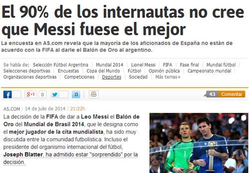 90%球迷不认可梅西最佳