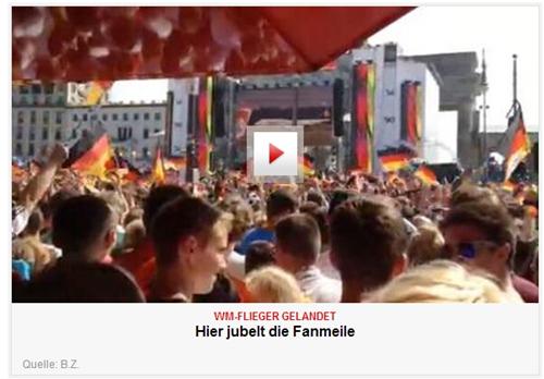 勃兰登堡门前的球迷