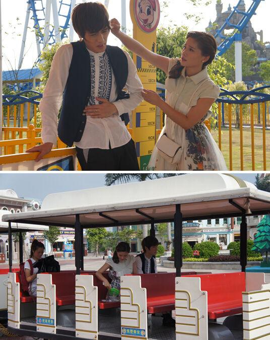 张翰 张翰吴/张翰、吴映洁《不一样的美男子》在厦门方特拍摄爆料(组图)