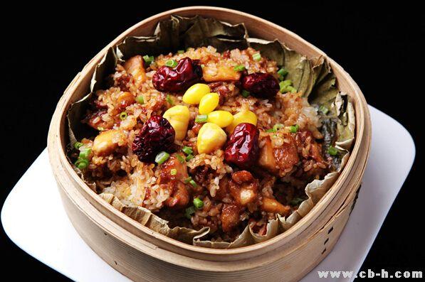 三伏天消暑养生饭:荷香糯米鸡