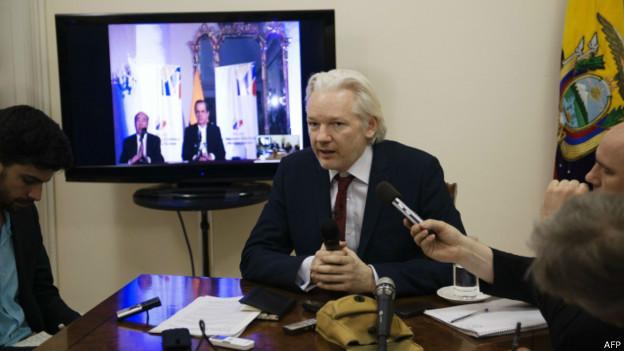 维基解密创办人阿桑奇已在厄瓜多尔住英大使馆滞留两年