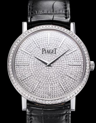 伯爵(PIAGET)Altiplano系列-白金超薄镶钻