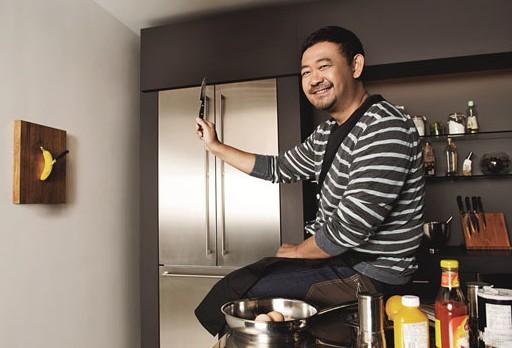 姜武拍杂志美食大片美食变身型男大主厨不亦封面醪投河图片