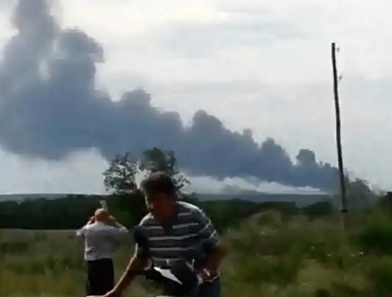 坠机视频截图。