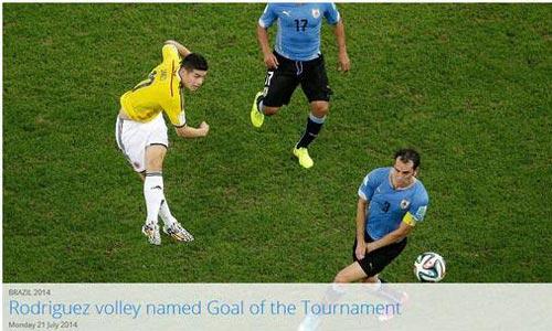 2014世界杯精彩进球_FIFA公布巴西世界杯最佳进球 J罗凌空射门夺魁-搜狐体育