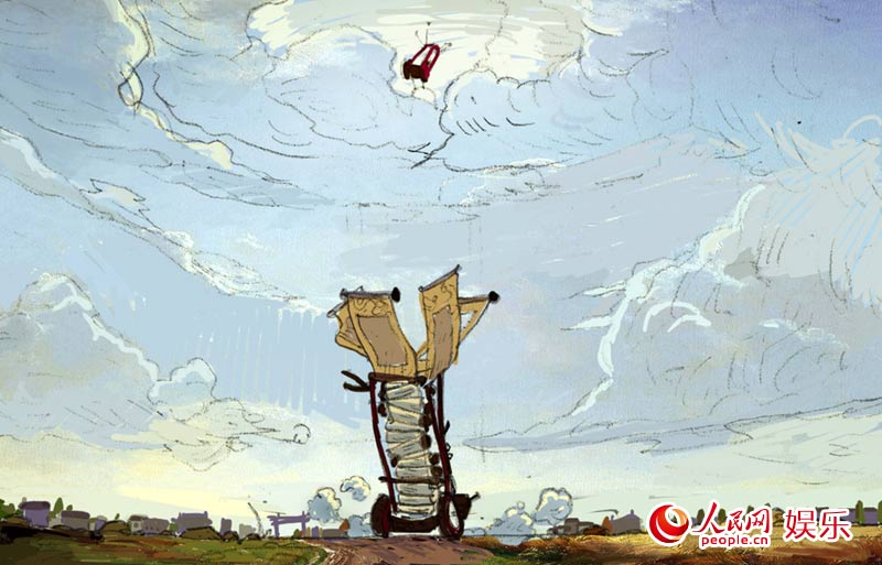 《神筆馬良》繪制漫畫版海報 3d場景原畫首曝光(組圖)