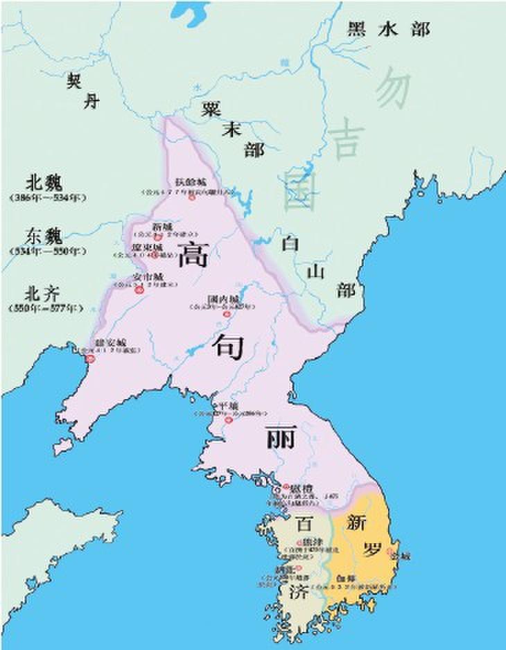 高句丽三国时期地图