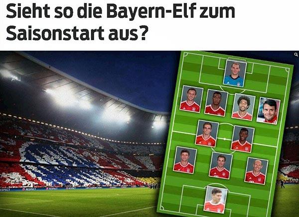 《图片报》曝光下赛季拜仁的主力阵容