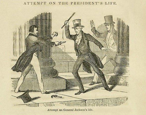 杰克逊总统棒打持枪刺客