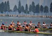 图文:国际名校赛艇赛武汉举行 阿姆大学获冠军