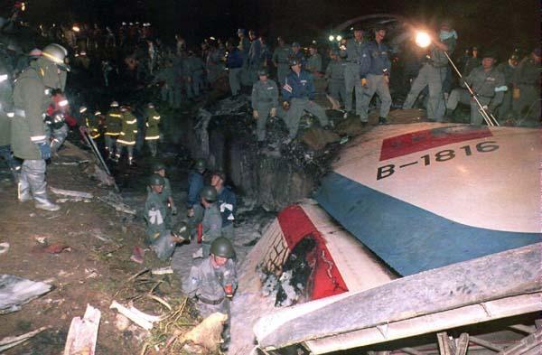 1994年4月26日,台湾中华航空公司一架空客A300航班在日本名古屋机场降落时失事,264人死亡。 CFP 资料
