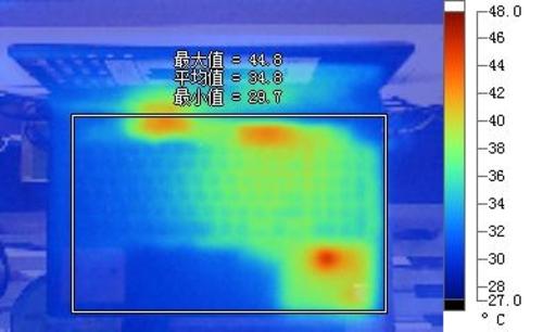 温度主要集中在键盘右侧