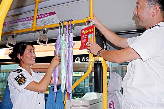首发:百余条线路涉水运行 公交车配爱心雨具