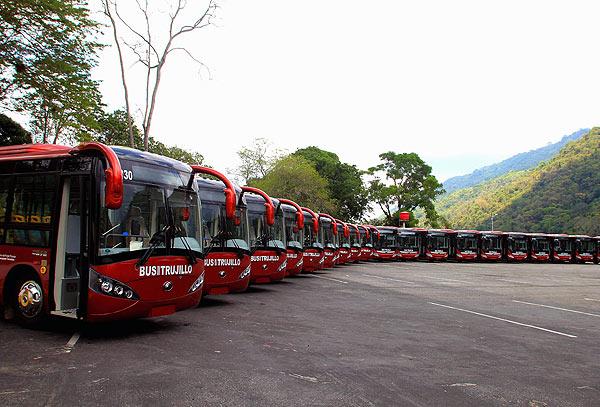 委内瑞拉的宇通客车