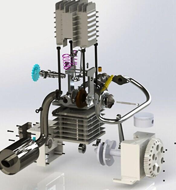 单缸发动机结构