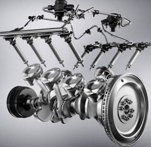 像v12型发动机,w12型发动机和w16型发动机只运用于少数的高性能汽车上图片