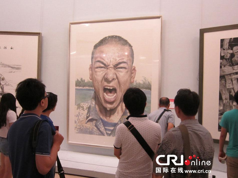 中国强军梦儿童画